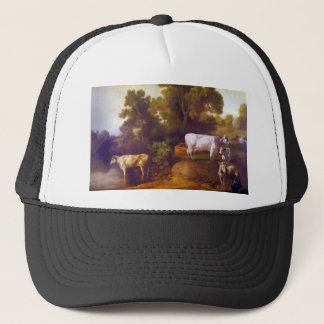 Cattle by a Stream by George Stubbs Trucker Hat