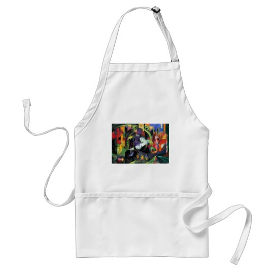 Cattle by Franz Marc, Vintage Abstract Fine Art Adult Apron