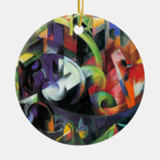 Cattle by Franz Marc, Vintage Abstract Fine Art Ceramic Ornament