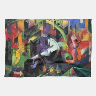 Cattle by Franz Marc, Vintage Abstract Fine Art Hand Towel