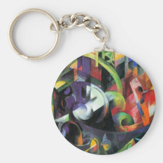 Cattle by Franz Marc, Vintage Abstract Fine Art Keychain