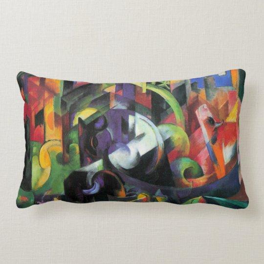 Cattle by Franz Marc, Vintage Abstract Fine Art Lumbar Pillow