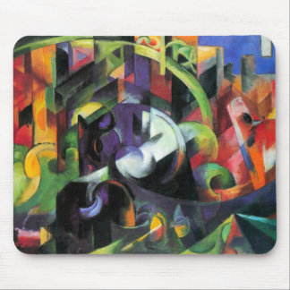 Cattle by Franz Marc, Vintage Abstract Fine Art Mouse Pad