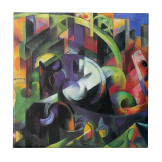 Cattle by Franz Marc, Vintage Abstract Fine Art Tile