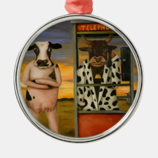 Cattle Call Metal Ornament