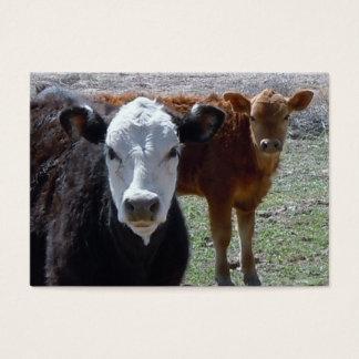 Cattle Calves - Shower Gift Registry - Western Business Card
