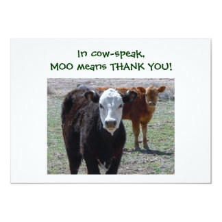 Cattle Calves - Western Thanks for Baby Gift Card