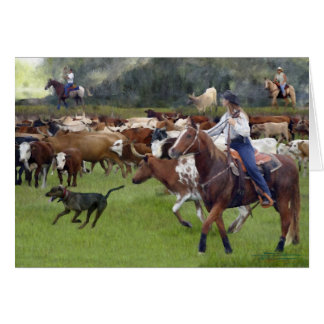 Cattle - Cattle Drive Greeting Cards