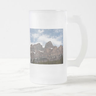 Cattle cliffs frosted glass beer mug