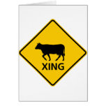Cattle Crossing Highway Sign Card