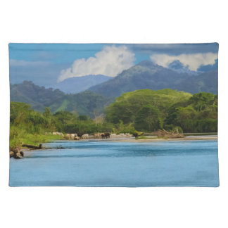 Cattle Crossing River Placemat