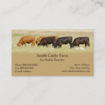 Cattle Dairy Farmer Business Card