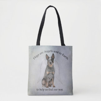 Cattle Dog Angel Tote