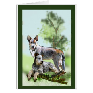 CATTLE DOG CARD