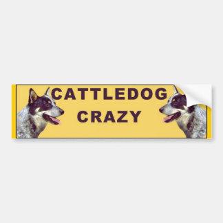 Cattle dog Crazy bumper sticker Car Bumper Sticker