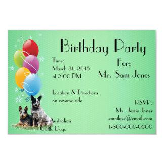 Cattle Dog Happy Birthday Card