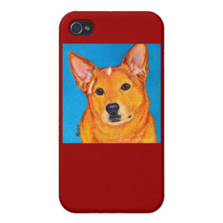 """Cattle Dog iPhone 4 Case - """"Red"""""""