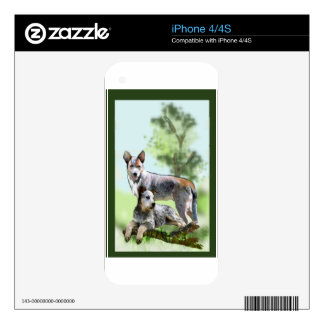 CATTLE DOG iPhone 4S SKIN