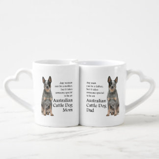 Cattle Dog Mom and Dad Mug Set