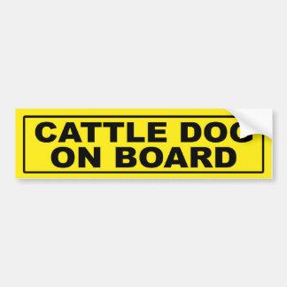 Cattle Dog on Board Car Bumper Sticker