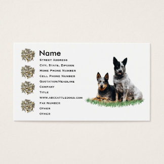 Cattle Dog Pair Business Card