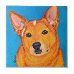 "Cattle Dog Tile - ""Red"""