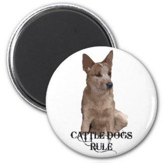 Cattle Dogs Rule Fridge Magnet