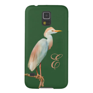 Cattle Egret on a Limb Customized Monogram Case For Galaxy S5