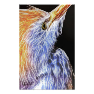 Cattle Egret Portrait Stationery