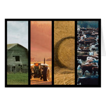 Cattle Farm Collage Thank You / Greeting Card