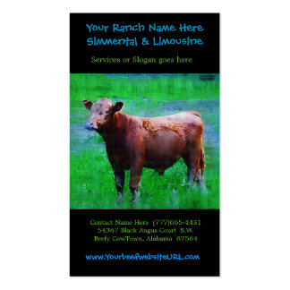 Cattle Farming Beef Ranch Double-Sided Standard Business Cards (Pack Of 100)