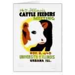 Cattle Feeders Illinois 1940 WPA Card