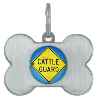 cattle guard pet tag