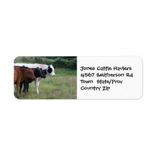 Cattle Hauling  Farm or Ranch Sticker Return Address Label
