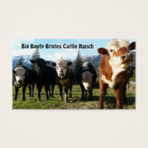 Cattle Herd on Country Farm Business Card