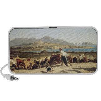 Cattle herding near Marseilles, 1853 (oil on canva Mini Speakers