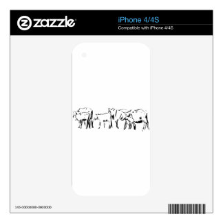 Cattle Illustration Decals For The iPhone 4S