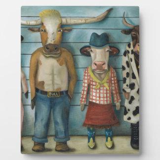 Cattle Line Up Plaque