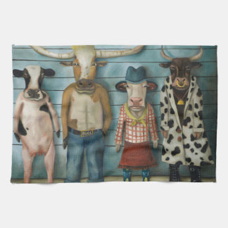 Cattle Line Up Towel