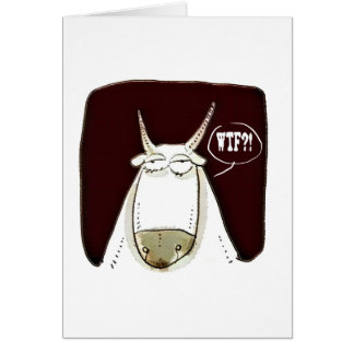 cattle looking out meaningless funny cartoon card