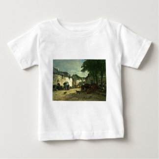 Cattle market at Daoulas, Brittany by Eugene Boudi Baby T-Shirt
