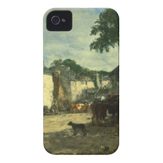 Cattle market at Daoulas, Brittany by Eugene Boudi Case-Mate iPhone 4 Case