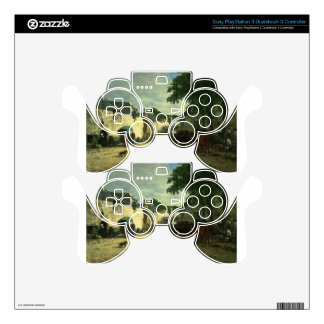 Cattle market at Daoulas, Brittany by Eugene Boudi PS3 Controller Decals