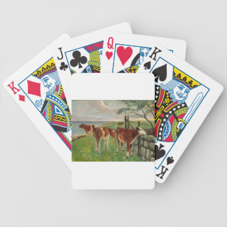 Cattle near a gate, Saltholm by Theodor Philipsen Bicycle Playing Cards