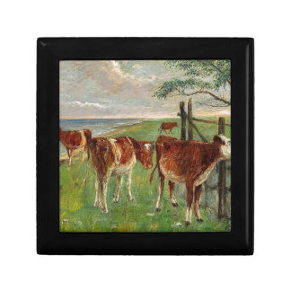 Cattle near a gate, Saltholm by Theodor Philipsen Jewelry Box