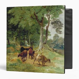 Cattle on a Devonshire Lane 3 Ring Binder