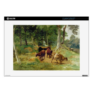 Cattle on a Devonshire Lane Decal For Laptop