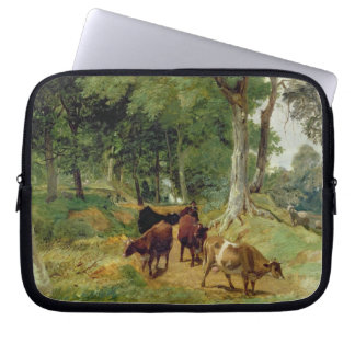 Cattle on a Devonshire Lane Laptop Sleeves