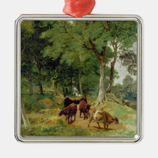 Cattle on a Devonshire Lane Metal Ornament
