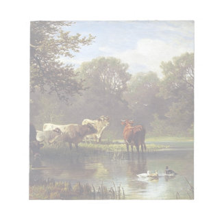 Cattle on the Pond Note Pad